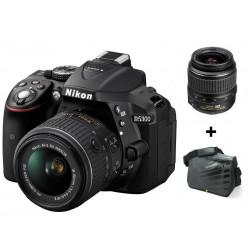Réflex Numérique Nikon D5300 + Objectif Nikkor 18-55MM + Sacoche