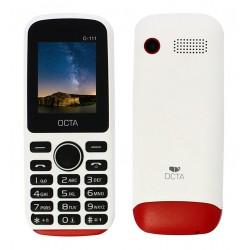 Téléphone Portable OCTA 111 / Double SIM / Blanc & Rouge + SIM Offerte