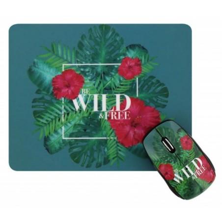 Ensemble Souris Sans Fil + Tapis WILD