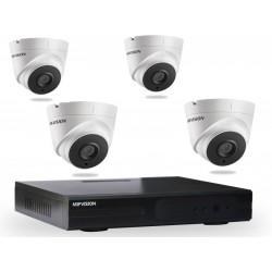 Kit DVR AHD 4 canaux + 4 Caméras Hikvision Internes 1MP