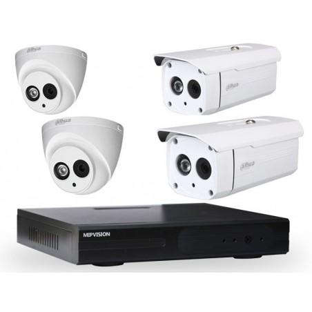 Kit DVR AHD 4 canaux + 2 Caméras Dahua Externes + 2 Caméras Dahua Internes 1MP