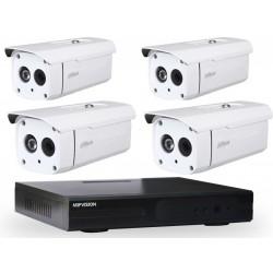 Kit DVR AHD 4 canaux + 4 Caméras Dahua Externes 2MP