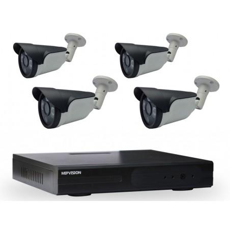 Kit DVR AHD 4 canaux + 4 Caméras Externes 2MP