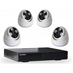 Kit DVR AHD 4 canaux + 4 Caméras MIPVISION Internes 2MP