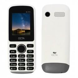 Téléphone Portable OCTA 111 / Double SIM / Blanc & Gris + SIM Offerte