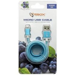 Câble USB Vers Micro USB / 1.5M / Bleu
