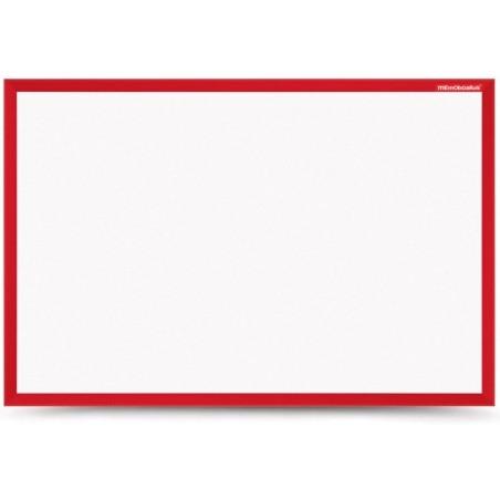 Tableau Blanc magnétique cadre en bois 60 x 40 / Rouge
