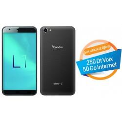 Téléphone Portable Condor Plume L1 / 4G / Double SIM / Noir + SIM Orange Offerte (50 Go)