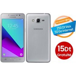 Telephone Portable Samsung Galaxy Grand Prime Plus Double SIM Silver 15 Dt Gratuite Orange Offerte 50 Go