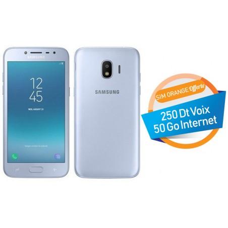 Téléphone Portable Samsung Galaxy Grand Prime Pro / Double SIM / Bleu + SIM Orange Offerte (50 Go)
