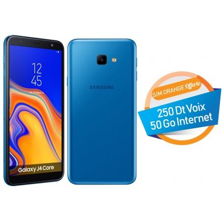 Téléphone Portable Samsung Galaxy J4 Core / Double SIM / Bleu + SIM Orange Offerte (50 Go)