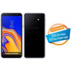 Téléphone Portable Samsung Galaxy J4 Core / Double SIM / Noir + SIM Orange Offerte (50 Go)