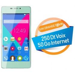 Téléphone Portable Condor Allure A9 / 3G / Double SIM / Turquoise + SIM Orange Offerte (50 Go)
