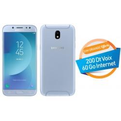 Téléphone Portable Samsung Galaxy J5 Pro / 4G / Double SIM / Bleu + SIM Orange Offerte (60 Go)