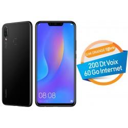 Téléphone Portable Huawei nova 3i / 4G / Double SIM / Noir + SIM Orange Offerte (60 Go)