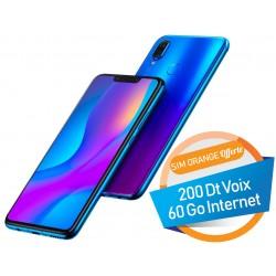 Téléphone Portable Huawei nova 3i / 4G / Double SIM / Bleu + SIM Orange Offerte (60 Go)