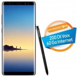 Téléphone Portable Samsung Galaxy Note 8 / Noir + SIM Orange Offerte (60Go)