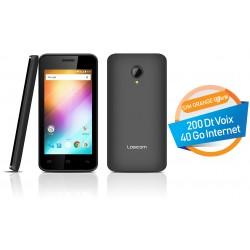 Téléphone Portable Logicom L-ement 403 / 3G / Double SIM / Noir + SIM Orange Offerte (40 Go)
