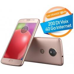 Téléphone Portable Motorola Moto E4 / 4G / Gold + SIM Orange Offerte (40 Go)