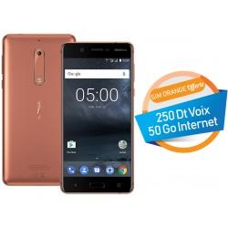Téléphone Portable Nokia 5 / Cuivre + SIM Orange Offerte (50 Go)