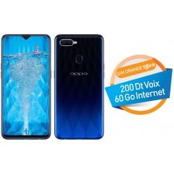 Téléphone Portable Oppo F9 / 4G / Double SIM / Bleu + SIM Orange Offerte (60 Go) + Abonnement IPTV