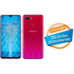 Téléphone Portable Oppo F9 / 4G / Double SIM / Rouge + SIM Orange Offerte (60 Go) + Abonnement IPTV