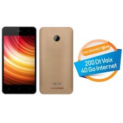 Téléphone Portable Versus V500 / Double SIM / Gold + SIM Orange Offerte (40 Go)