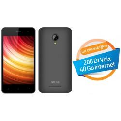 Téléphone Portable Versus V500 / Double SIM / Noir + SIM Orange Offerte (40 Go)