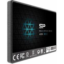 "Disque Dur SSD Silicon Power 2.5"" Slim A55 / 512 Go"