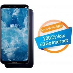 Téléphone Portable Nokia 8.1 / Bleu + SIM Orange Offerte (60 Go)
