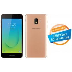 Telephone Portable Samsung Galaxy J2 Core 4G Double SIM Gold Orange Offerte 50 Go