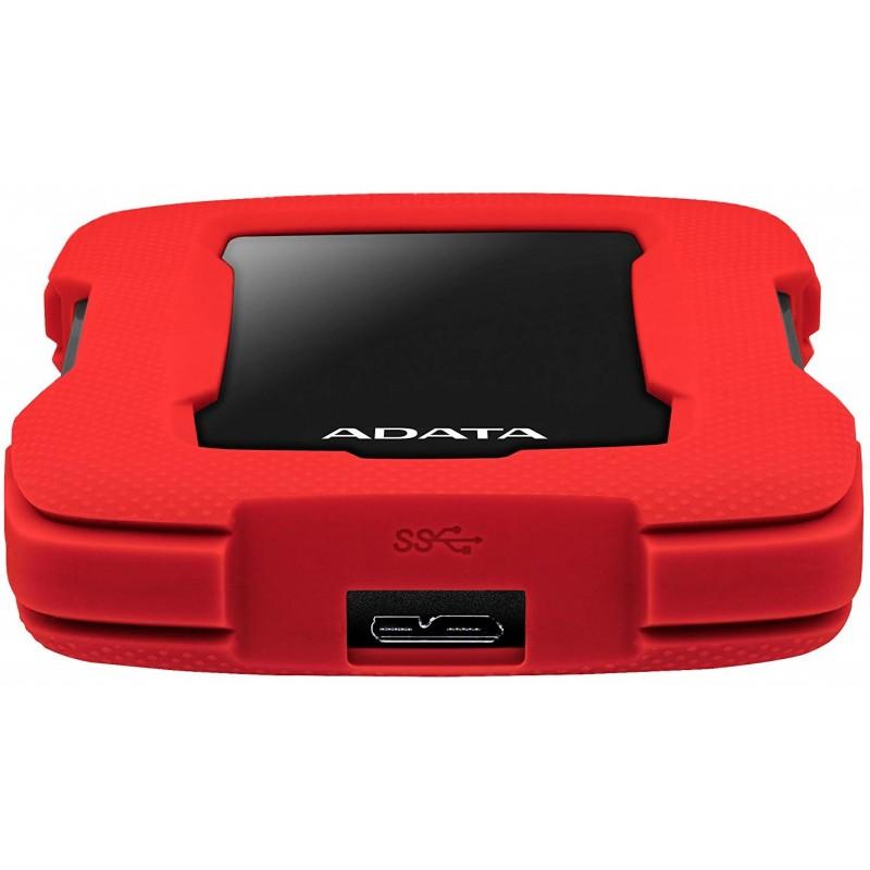 DISQUE DUR EXTERNE ADATA ANTI-CHOC HD330 USB 3.1 / 1 TO / ROUGE