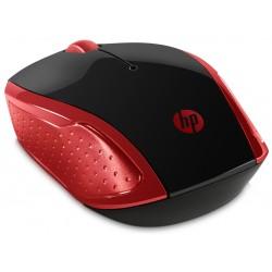 Souris Sans Fil HP 200 / Rouge