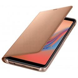 Étui à rabat pour Samsung Galaxy A7 / Gold