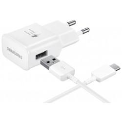 Chargeur secteur rapide Samsung USB type-C / Blanc