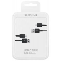Pack 2 Câbles Samsung USB Type-C / Noir
