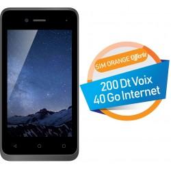 Téléphone Portable Evertek V5 Nano / 3G / Double SIM / Noir + SIM Orange Offerte (40 Go)