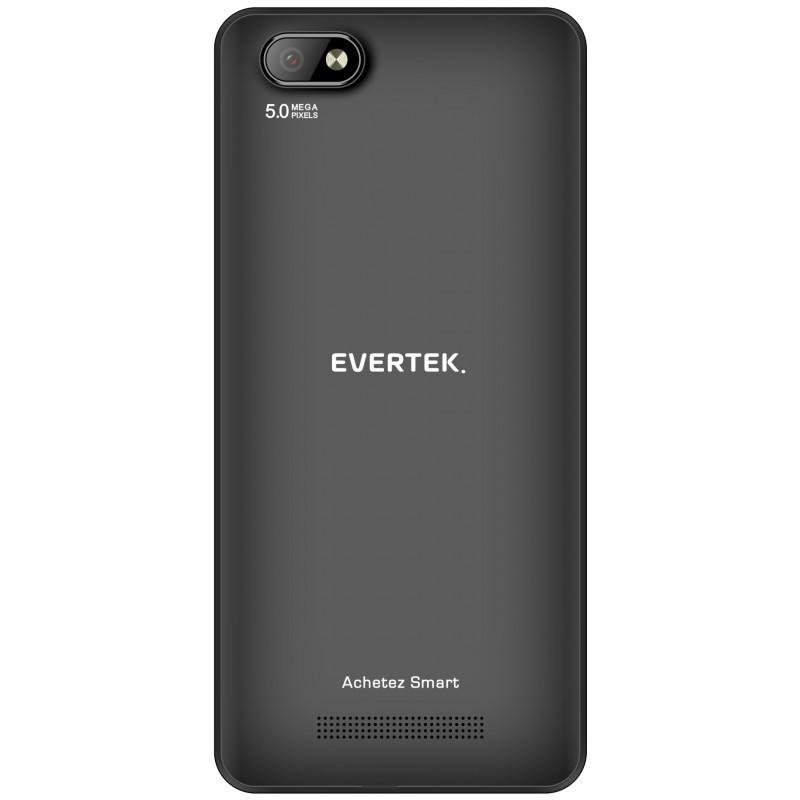 TÉLÉPHONE PORTABLE EVERTEK V9+ / 4G / DOUBLE SIM / NOIR
