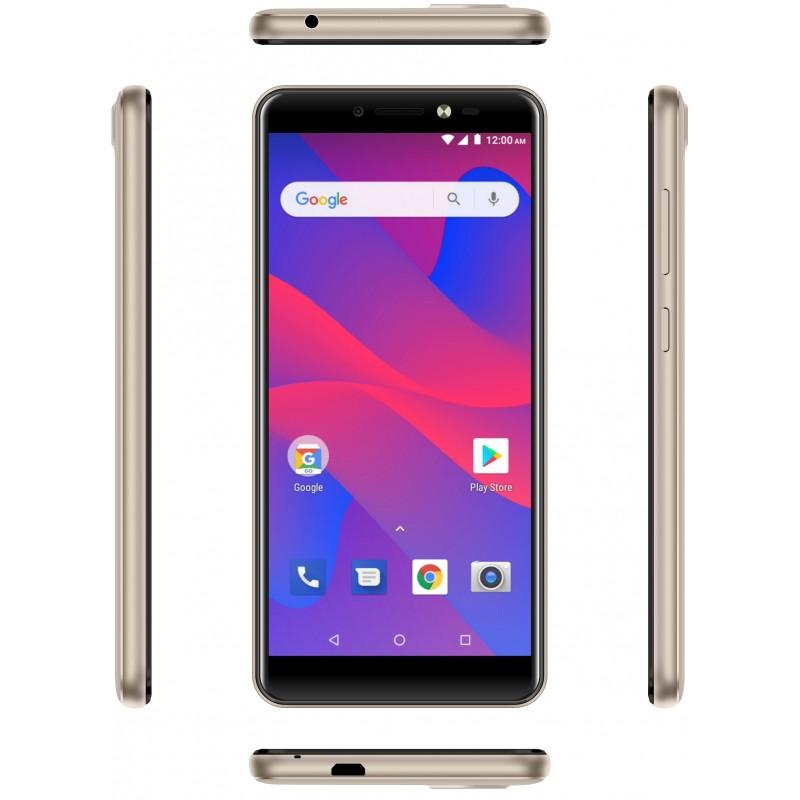 TÉLÉPHONE PORTABLE EVERTEK V9+ / 4G / DOUBLE SIM / GOLD