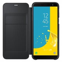 Etui portefeuille pour Samsung Galaxy J6 2018 / Noir