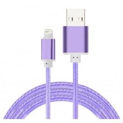 Câble Tissu en nylon Tressé USB vers Lightning / Violet