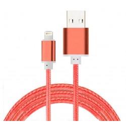 Câble Tissu en nylon Tressé USB vers Lightning / Rouge