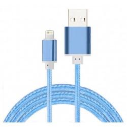 Câble Tissu en nylon Tressé USB vers Lightning / Bleu