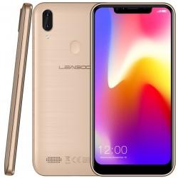 Téléphone Portable Leagoo M11 / 4G / Double SIM / Gold + SIM Orange Offerte (50 Go)