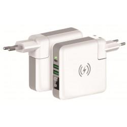 Chargeur sans fil KSix 4en1 avec Power Bank 6700 mAh