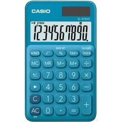 Calculatrice de poche 10 chiffres Casio SL-310UC-BU / Bleu