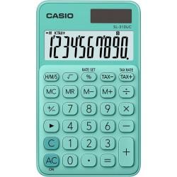 Calculatrice de poche 10 chiffres Casio SL-310UC-GN / Vert