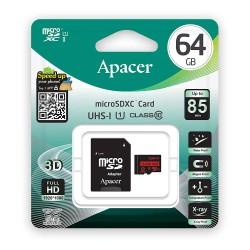 Carte Mémoire Apacer Micro SD UHS-I Class10 64 Go avec Adaptateur