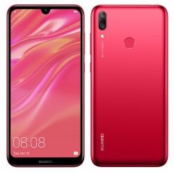 Téléphone Portable Huawei Y7 Prime 2019 / 4G / Double SIM / Rouge + SIM Orange Offerte (50 Go)