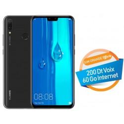 Téléphone Portable Huawei Y9 2019 / 4G / Double SIM / Noir + SIM Orange Offerte (60 Go)